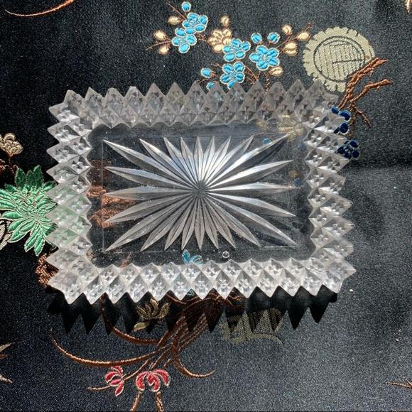 Vintage Glass Crystal Mini Tray